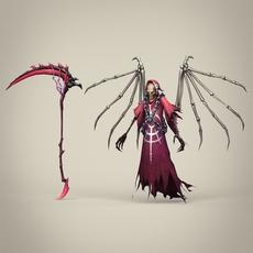 Game Ready Fantasy Death Skeleton 3D Model
