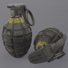 MK2 Pineapple Grenade 3D Model