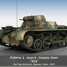 PzKpfw 1 - Panzer 1 - Ausf. A - China 3D Model