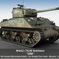 M4A2 Sherman - 288 - Russia 3D Model