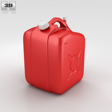 5 Gallon Jerry Can Fuel Tank 3D Model