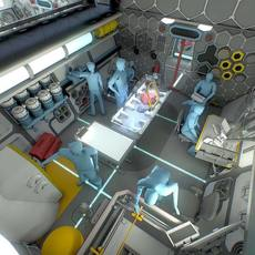 Sci-Fi Research Facility Interior 3D Model