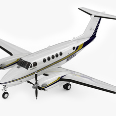 Beechcraft King Air 200 3D Model