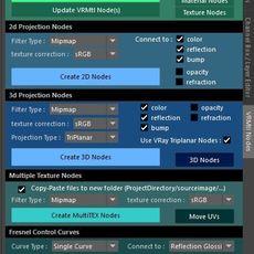 Vray Material Nodes Creator for Maya 1.0.2 (maya script)