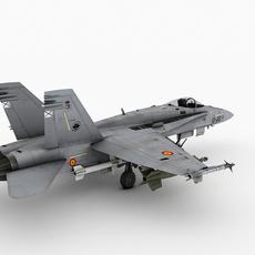 F-18 M Horne,  Spain version 3D Model
