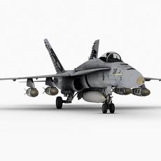 F-18 C, Swiss version 3D Model