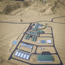Industrial Mining Factory 3D Model