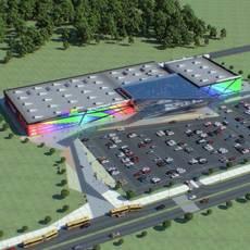 Shopping Mall 003 3D Model