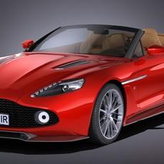 Aston Martin Vanquish Zagato Volante 2017 3D Model