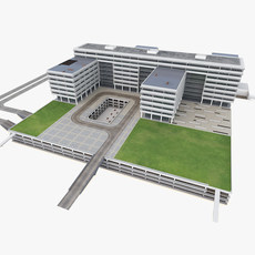 Science Center Building 3D Model