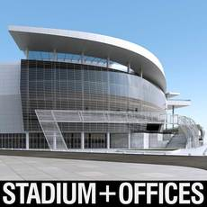 Warriors Arena Stadium 3D Model