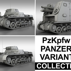 Panzerkampfwagen 1 (Panzer 1) - Collection 3D Model