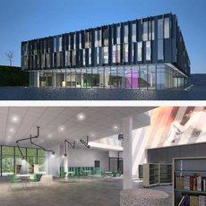 Cultural Center Building 3D Model
