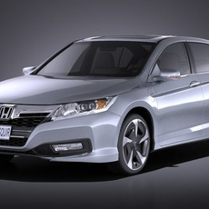 Honda Accord  PHEV 2015 VRAY 3D Model