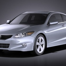 Honda Accord 2012 coupe VRAY 3D Model