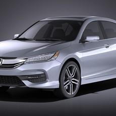 Honda Accord 2017 VRAY 3D Model