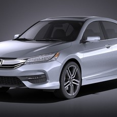 Honda Accord 2017 VRAY 3D Model