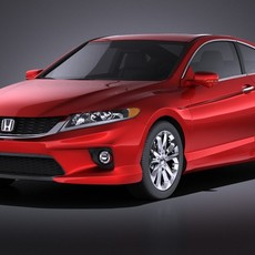 Honda Accord Coupe 2015 VRAY 3D Model
