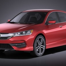 Honda Accord Sport 2017 VRAY 3D Model