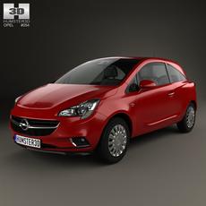 Opel Corsa (E) 3-door 2014 3D Model