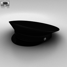 Police Uniform Hat 3D Model