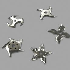 5 Shuriken Set 3D Model