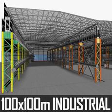 Industrial Interior 01 3D Model
