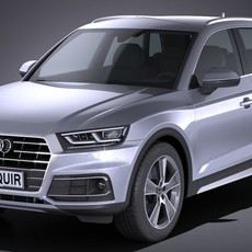 Audi Q5 2017 3D Model