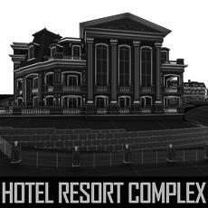 Hotel Resort Wellness Complex 3D Model