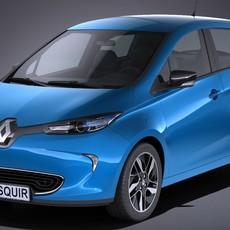 Renault Zoe 2017 3D Model