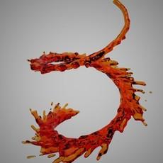 Abstract Liquid 2 3D Model
