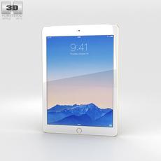 Apple iPad Air 2 Cellular 24K Gold 3D Model