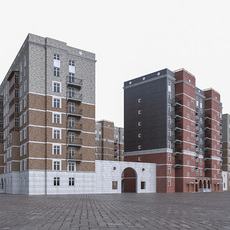 Apartment Residential Building House 3D Model