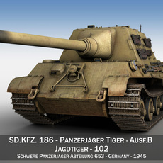 SD.KFZ 186 Jagdtiger - Porsche Production 3D Model