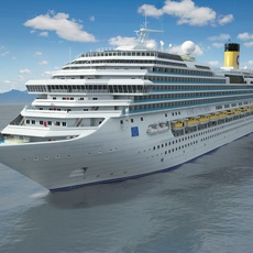 Costa Concordia cruise ship 3D Model