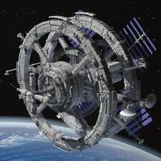 Sci-Fi Space Station 3D Model