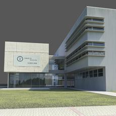 Office building - High-tech university headquarters 3D Model