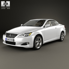 Lexus IS (XE20) with HQ interior 2010 3D Model