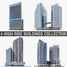 High-rise Buildings Collection 3D Model