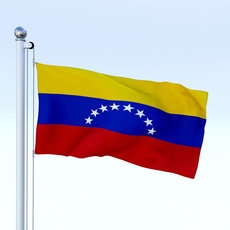 Animated Venezuela Flag 3D Model