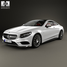 Mercedes-Benz S-Class AMG coupe HQ interior 2014 3D Model