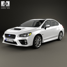 Subaru WRX with HQ interior 2014 3D Model