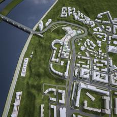 Urban Landscape Terrain 3D Model