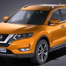 Nissan Rogue 2017 3D Model