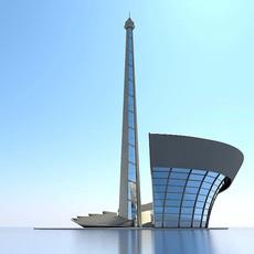 Baku Stadium 3D Model