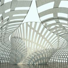 Street structure - public Pavilion with insides 3D Model