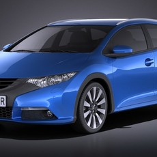 Honda Civic Tourer 2015 VRAY 3D Model