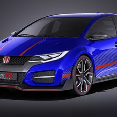 Honda Civic type R concept 2015 VRAY 3D Model
