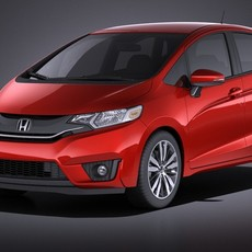 Honda Fit 2017 VRAY 3D Model