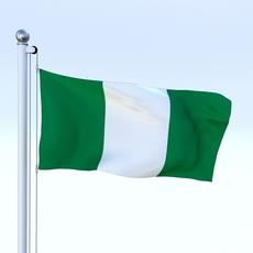 Animated Nigeria Flag 3D Model